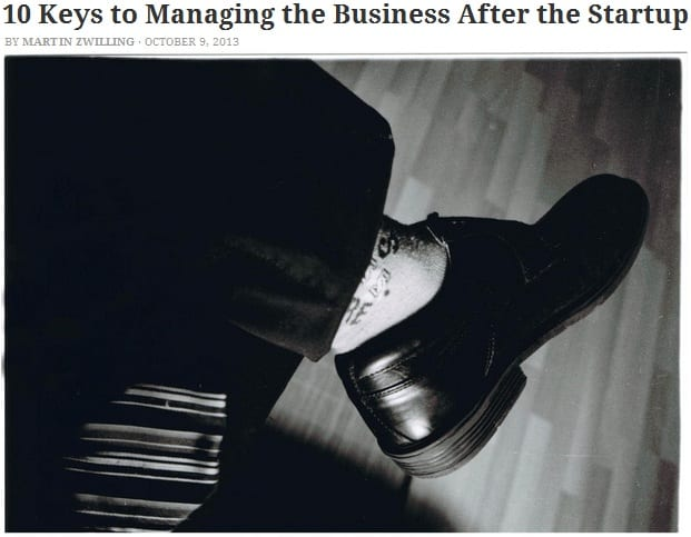 10 keys to managing the business after startup
